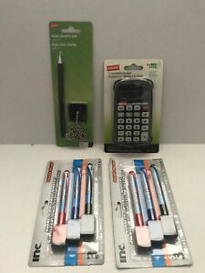 Lot Of New Office Supplies Calculator Chain Pen Dry Erase Markers
