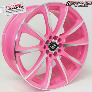 G Line 1026 17 X7 5 Pink Machined Accents Custom Wheels Rims X 4 Free Shipping