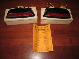 2 Vtg Stimsonite Supplemental Stop Lamps Taillights