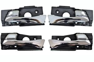 Interior Inside Door Handle Chrome Front Rear Left Right Set Of 4 Fits Hyundai