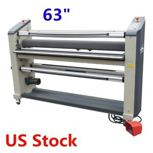 Us Stock 63 Heavy Duty Full auto Roll To Roll High end Laminator Machine