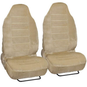 Luxurious Soft And Comfortable High Back Seat Cover Set For Car Truck Suv 4 Pc