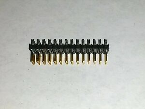 3x14 Pin 2 54mm Triple Row Straight Male Header Pcb Mount Connector Lot Gold