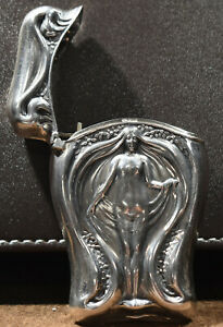 Sterling Silver Art Nouveau Style Vesta Match Case