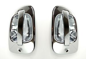 Pair 2 Exterior Door Handle Chrome Covers For Freightliner Cascadia