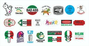 MEXICAN Construction CHINGON Hard Hat Stickers Welder Sticker FUNNY Shameless
