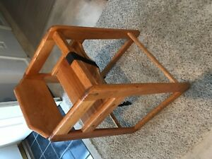 Two Wooden Restaurant High Chairs