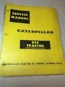 Nice Caterpillar 834 Tractor Service Manual Ser 43e1 43e422