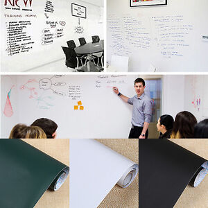 Removable Whiteboard Wall Paper Sticker Dry Board Erase Office Vinyl Decor Decal