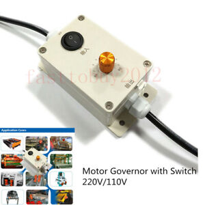 Ac Vibration Motor Governor Variable Speed Controller With Switch 220v 110v