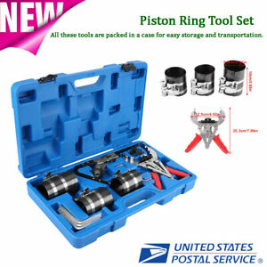 Piston Ring Service Tools Set Engine Ratchet Cleaning Expander Compressor Kit
