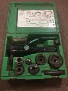 Greenlee 7806sb 1 2 2 Quick Draw Hydraulic Hole Punch Driver Kit