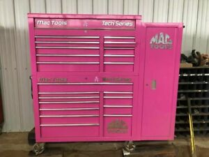 Mac Tools Tech Series Tool Box Chest Set Pink Wrenching For A Cure