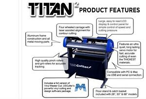 28 Uscutter Titan 2 Vinyl Cutter sign Cutting Plotter W vinylmaster Cut design