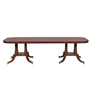 New Dinning Table Mahogany Hand Carved With Banded Inlay