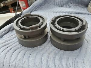 Lot Of 2 Storz 100 Fire Hose Hydrant Attachment Fitting Flange Coupler Awg