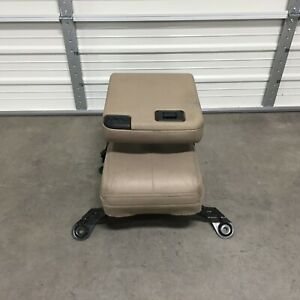 1999 2010 Ford Super Duty Excursion Jump Seat Center Console F250 F350 F450 Tan