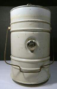 Antique Fuel Container From Old Gas Stove With Working Gauge