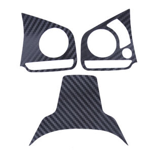 Carbon Fiber Color Steering Wheel Decal Cover Sticker Trim Fit For Honda Civic