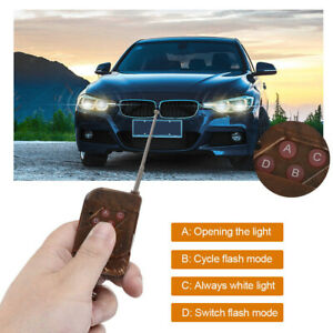 12v Wireless Remote Control Module W Strobe Flash For Car Bulbs Led Strips Ra3
