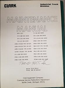 Clark Forklift Powrworkers Maintenance Manual See Pictures No 151 2 Rev 2