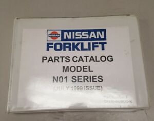 Nissan Forklift Model N01 Parts Catalog Manual