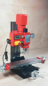 Mini Milling Drilling Machine Digital Display Mechanism 90 Head Tool Vertical
