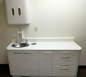 Pelton Crane Dental Assistant Side Cabinet W sink 63 l