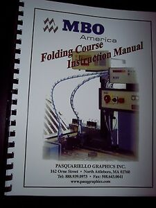 New Mbo Folding Course Instruction Manual For Mbo Folder Operator