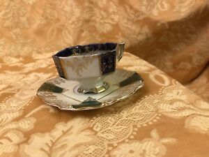 Porcelain Cup And Saucer Dance Scene