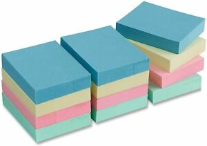 Self Sticky Notes Pop Up Memo Reminder 12 Pads 100 Sheets Adhesive Notepads New