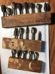 Lot Of 18 Burr Cutting Tool Cylindrical Radius End Die Grinder Bits