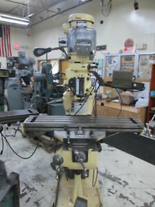 Bridgeport 42 Table Series 1 Variable Speed 2hp 230 460v 3ph Milling Machine W