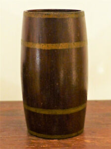 Antique Pa 19th C Child Toy Barrel Painted Maggie Gensler July 1876 Still Bank