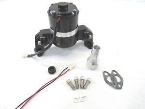 Sbc 350 383 Chevy Aluminum High Flow 12v Electric Water Pump Black Bpk 1107bk