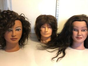 Mannequin Heads Lot Of 3
