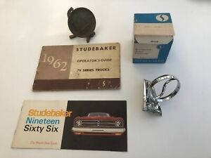 Studebaker 1952 Centennial Medallion 1966 Hood Ornament 1962 Truck Manual