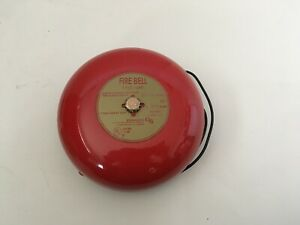 nib new vintage Est Edwards 439d 6aw Fire Alarm Bell Red