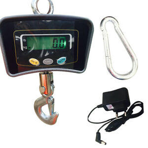 500kg 1100lbs Lcd Digital Heavy Duty Industrial Hook Hanging Weight Scale Top