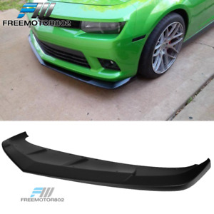 Fits 14 15 Chevy Camaro Ss A Style Front Bumper Lip Spoiler Matte Black Abs