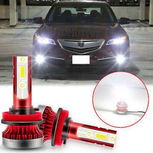 H11 H8 H9 Xenon White Led Fog Light Bulbs For Acura Tsx 04 14 Tl 07 14 Ilx 16 18