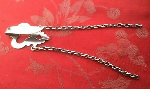 Super Silver Chatelaine Hook And Chains Hallmarked