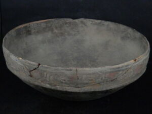 Ancient Large Size Teracotta Painted Bowl Indus Valley 2500 Bc Ik521