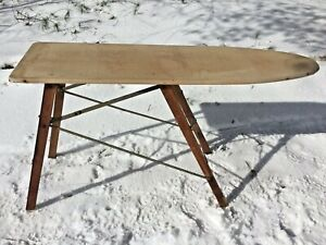 1928 Sears Roebuck Wooden Ironing Board Stand Fast One Motion 4 Leg Folding