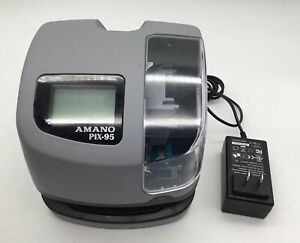 Amano Atomic Pix 95 Time Clock Electronic Time Date Recorder Stamp Punch