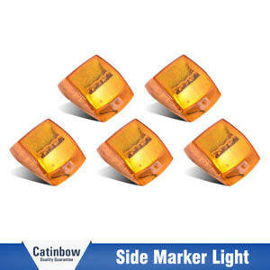 5x Amber 17led Roof Top Cab Marker Clearance Lights Fit Kenworth Peterbilt Truck