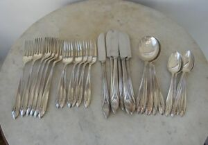 Sterling Silver Service Elsinore 30 Pieces International Silver Art Deco 1930 S