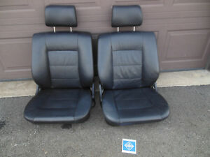 1989 Bmw E24 L6 635csi Schwarz Black Leather Front Seat Set Left Right