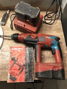 Hilti Te 2 a Hammer Drill 24 Volt Cordless 2 Battery Charger Case Used 172