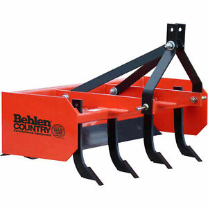4 Box Blade Tractor Attachment Category 1 Pins Category 0 Spacing Lot Of 1